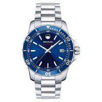 Movado Series 800 Staal 40.00mm Blauw
