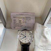 IWC Portuguese Chronograph Staal 41mm Zilver Arabisch Nederland, hilversum