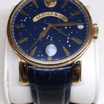 Arnold & Son True Moon Rose gold 46mm Blue No numerals