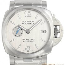 Panerai Luminor Marina Automatic Staal 42mm Zilver Arabisch