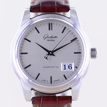 Glashütte Original Senator Panorama Date Steel 39mm Silver No numerals