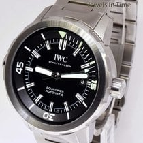 IWC Aquatimer Stainless Steel Automatic Black Dial Watch...