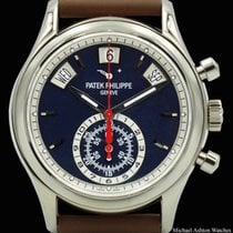 Patek Philippe Annual Calendar Chronograph White gold 40.5mm Blue No numerals United States of America, New York, New York