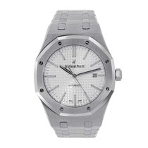 Audemars Piguet Royal Oak 41mm Stainless Steel White Dial Watch