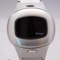 Pulsar Time Computer P4 Vintage Digital Led Stainless Steel...