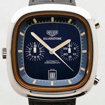 Heuer Chronographe 42mm Remontage automatique 1972 occasion Bleu
