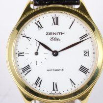 Zenith Elite pre-owned 36mm White Date Leather