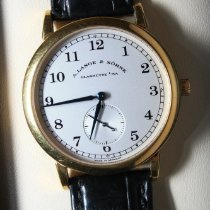 A. Lange & Söhne Yellow gold Manual winding Silver Arabic numerals 36mm pre-owned 1815