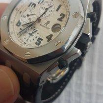Audemars Piguet Royal Oak Offshore Chronograph Aço 42mm Branco Árabes