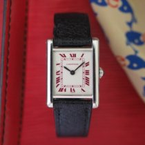 Cartier Platinum Manual winding White Roman numerals 28mm pre-owned Tank (submodel)