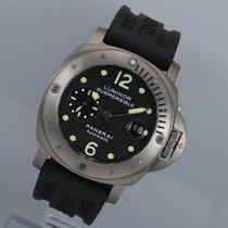 Panerai Luminor Submersible Titanium 44mm Black Arabic numerals