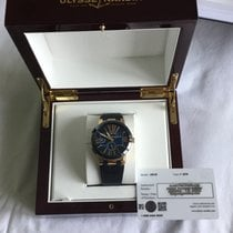 Ulysse Nardin Executive Dual Time Rose gold 43mm Blue Roman numerals