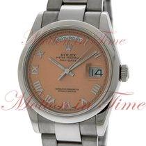 Rolex Day-Date 36 Oro blanco 36mm Rosa Romanos
