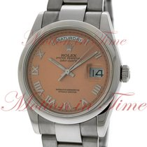 Rolex Day-Date 36 Or blanc 36mm Rose Romain