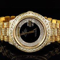 Rolex Mens 36MM Rolex President 18038 18k Yellow Gold Day-Date...