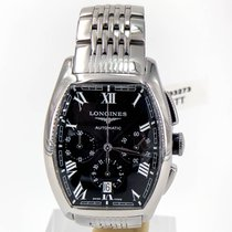 Longines Evidenza Chronograph Black Dial On Bracelet Ref: L2...