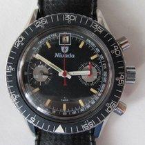 Nivada Chronograph 38,6mm Handaufzug gebraucht Schwarz