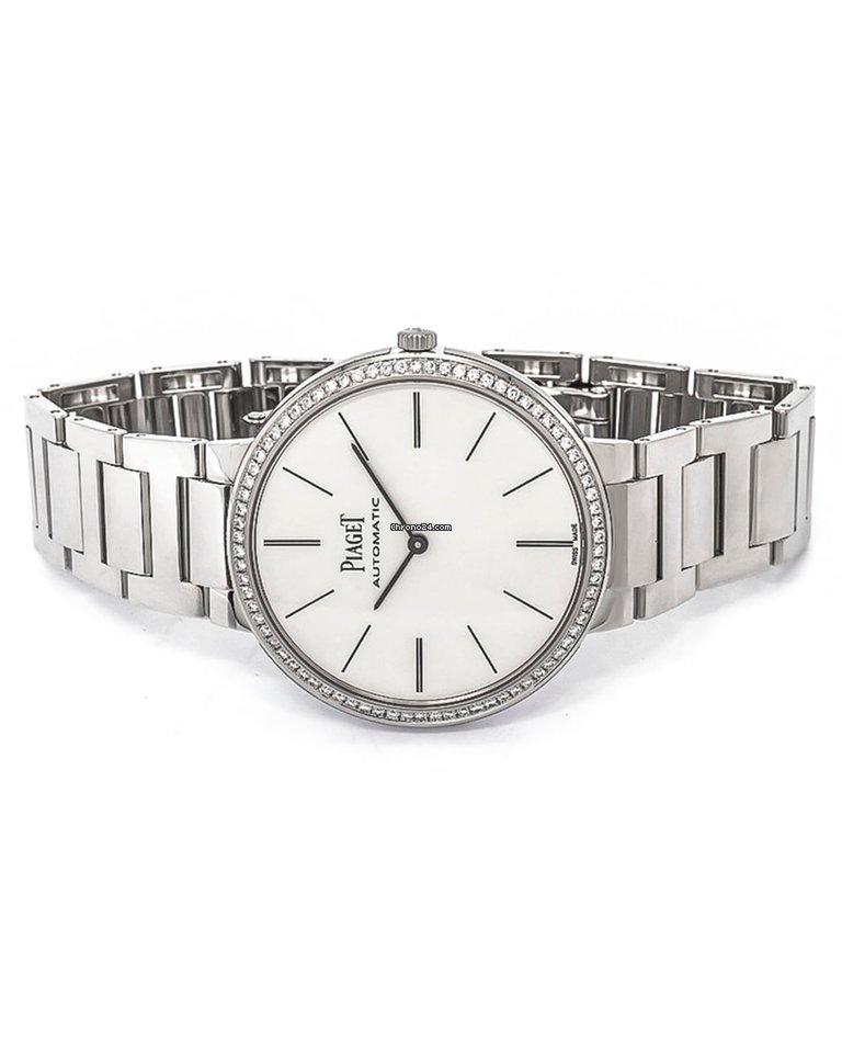 fc78fa85102 Piaget Altiplano 18K White Gold Diamond Automatic Men s Watch... por R   86.694 para vender por um Trusted Seller na Chrono24
