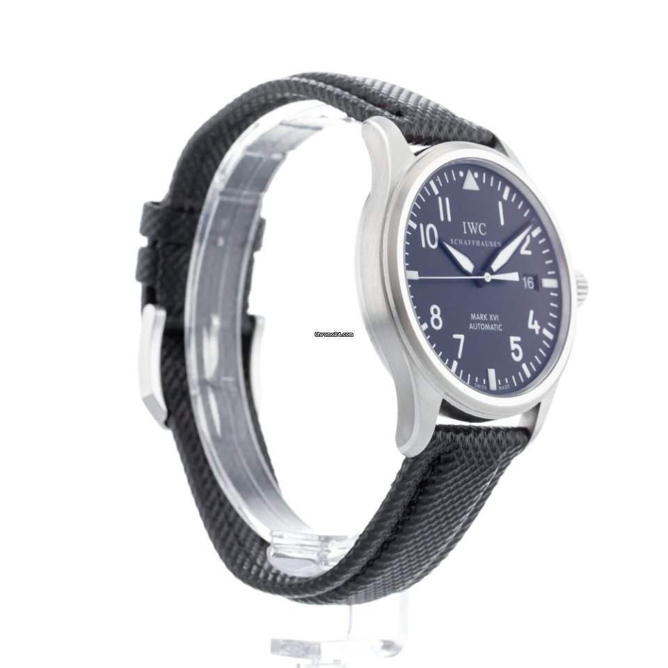 a7736fb3467e IWC Pilot Mark XVI IW3255-01 Watch with Textile Bracelet and... for ...