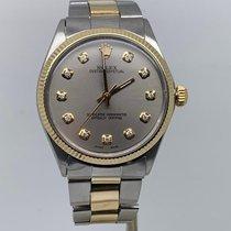 Rolex Oyster Perpetual 34 Ouro/Aço 34mm Cinzento Sem números