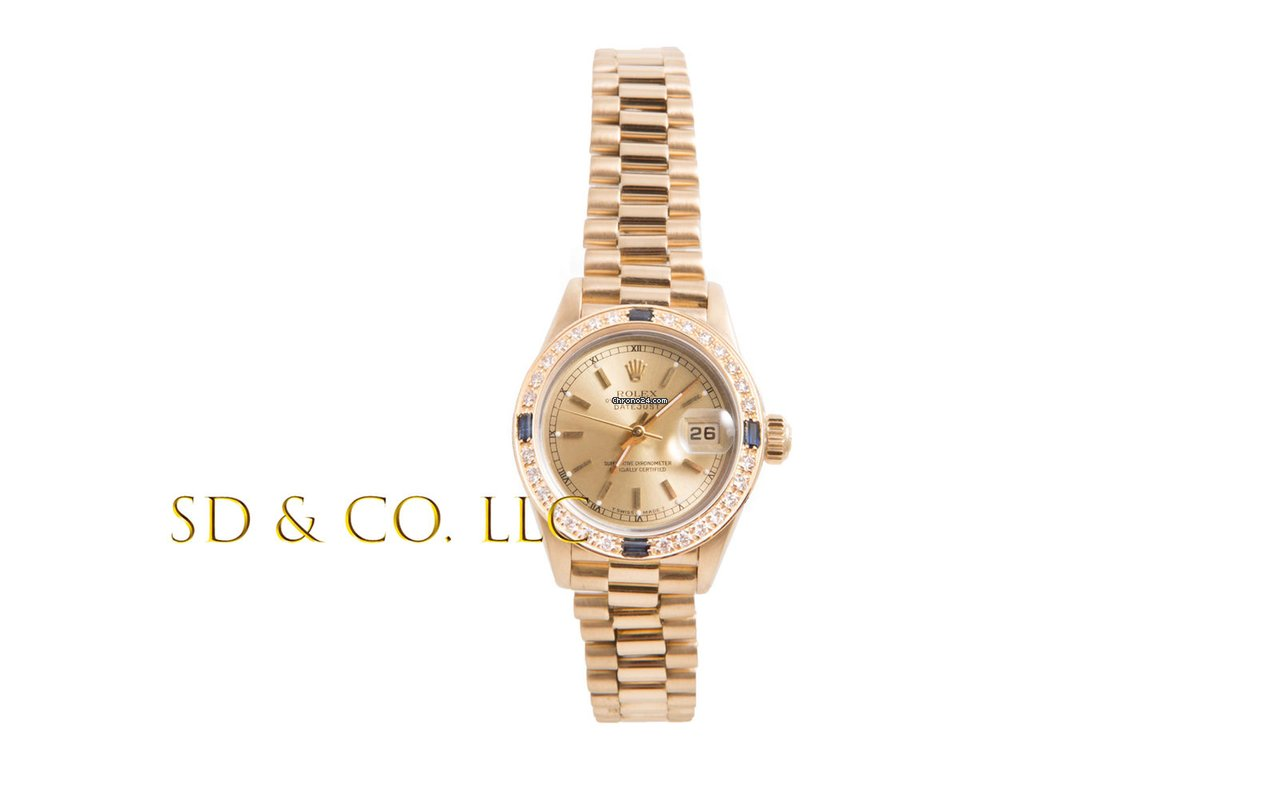 4cae3309583 Rolex Ladies 18K Gold President - Champagne Stick Dial -... for $6,595 for  sale from a Trusted Seller on Chrono24