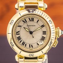 Cartier Pasha C pre-owned 35mm Silver Date Yellow gold