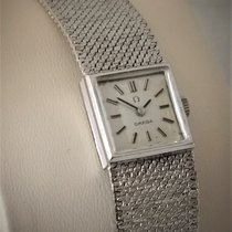 Omega White gold Manual winding Silver 16mm pre-owned