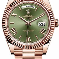 Rolex Day-Date 40 Rose gold 40mm Green United States of America, New York, New York