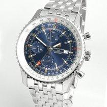 Breitling Navitimer GMT Acier 46mm Bleu