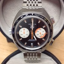 TAG Heuer Autavia Steel 42mm Black No numerals