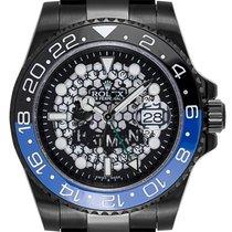 Rolex GMT-Master II Black PVD Custom Batman Watch 116710LN