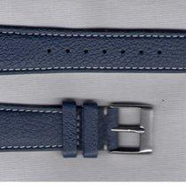 Blue Drummed Leather Strap 20/16 For Rolex/Omega/Longines/Tag...