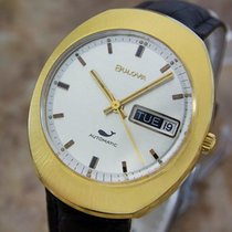 Bulova Mens Midsized Automatic Gold Plated Swiss 1968 Classic...