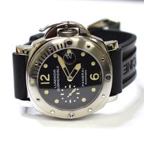Panerai Luminor Submersible 44mm Stainless Steel Mens Rubber...