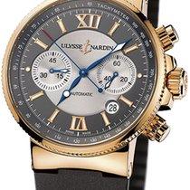 Ulysse Nardin 356-66-3/319 Pозовое золото Marine Chronograph 41mm новые