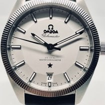 Omega Globemaster master co axial box and service center card