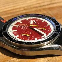 オメガ Speedmaster Reduced SS Red Dial Schumacher