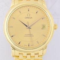 Omega De Ville Prestige 18K Gold Luxusuhr Goldband Unisex...