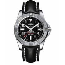 Breitling Avenger II GMT Steel 43mm Black Arabic numerals