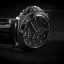 Panerai Luminor Chrono Titanium 40mm Zwart Arabisch