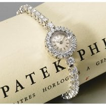 Patek Philippe White gold 18mm Manual winding Rare 18kt 1950/60s Patek Philippe Round Diamond Set Tennis S new United States of America, New York, New York, New York