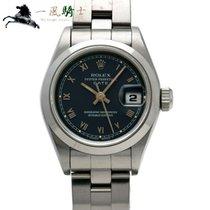 Rolex Oyster Perpetual Lady Date Stahl 24mm Blau