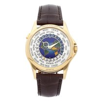 Patek Philippe Yellow gold Automatic Silver Arabic numerals 39.5mm pre-owned World Time