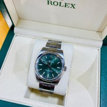 Rolex Oyster Perpetual 34 Steel 34mm Green Arabic numerals United Kingdom, Doncaster