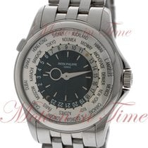Patek Philippe World Time White gold 39.5mm Silver No numerals United States of America, New York, New York