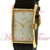 Patek Philippe Hour Glass Yellow gold 22.2mm Silver Arabic numerals