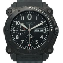 Hamilton Khaki Navy Below Zero Stainless Steel Black Pvd...