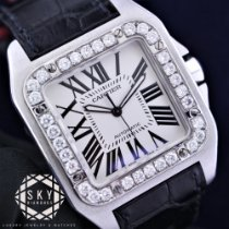 Cartier Santos 100 Steel 41.3mm White Roman numerals