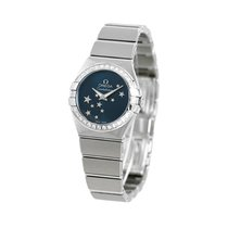 Omega Constellation Quartz Acero 27mm Azul