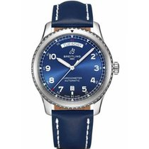 Breitling Steel Automatic Blue Arabic numerals 41mm new Navitimer 8